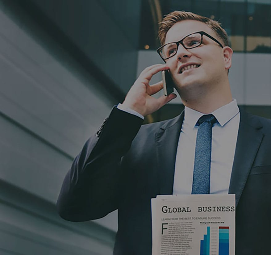 Business Man Talking on Phone (Background)